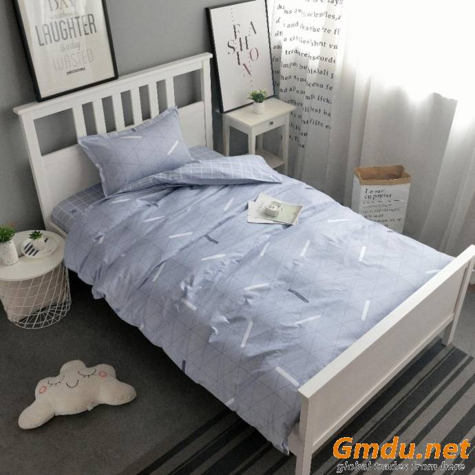 3pcs Stripes Bedding Duvet Set
