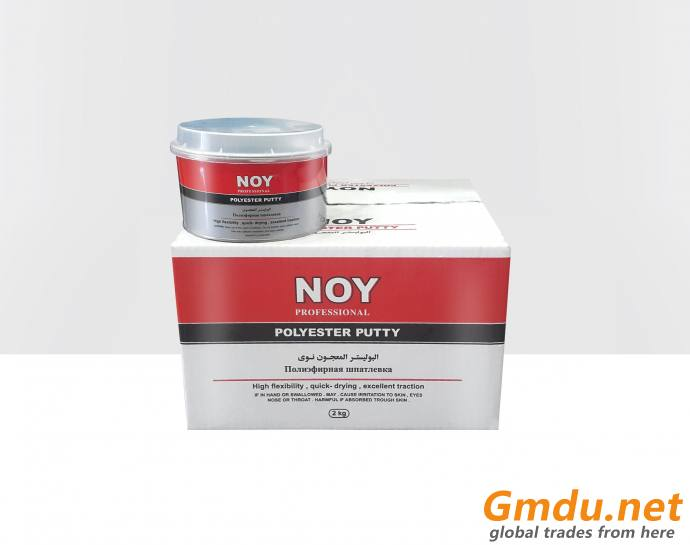 Putty, spray paint, thinner, body filler