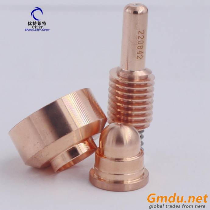 45A plasma welding cutting nozzle 220930 electrode 220842 protective cap 220931 for CNC plamsa cutting