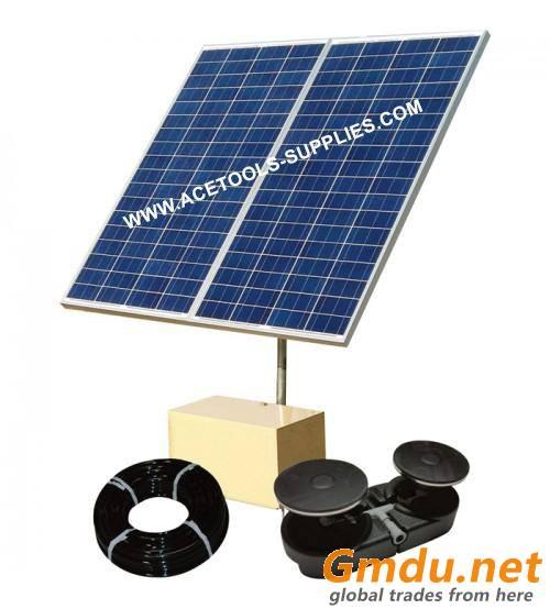 Aermaster Solar 2 Direct Drive Pond Aerator System - 2.8 CFM, 3/4-Acre Capacity