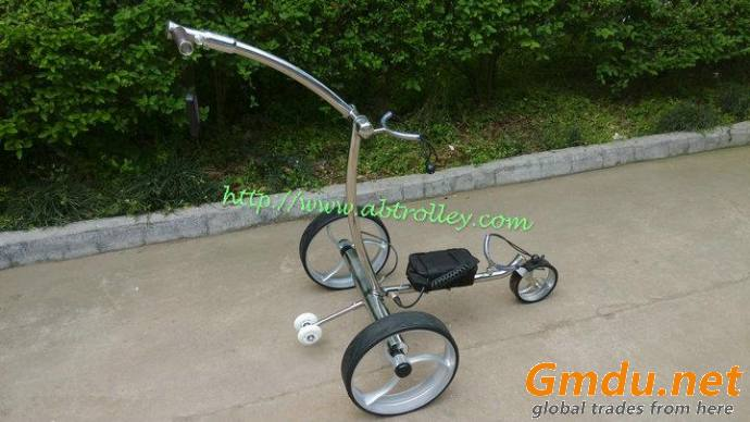 Noble 007R remote stainless steel golf trolley