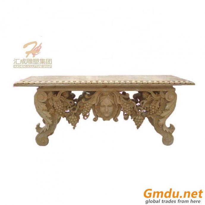 European Style Marble Table Garden Decoration