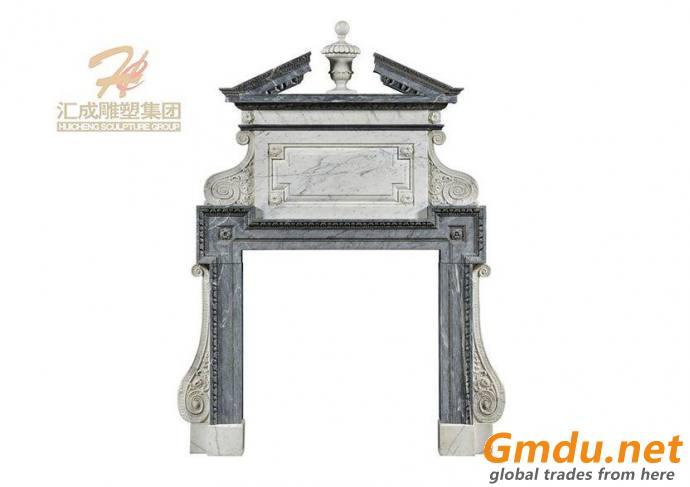 Hand Carved Black Marble Door Frame Surround