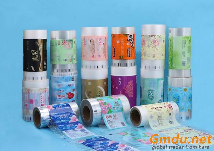 Customised tissue paper laminating packaging film roll plastic packing wrap film