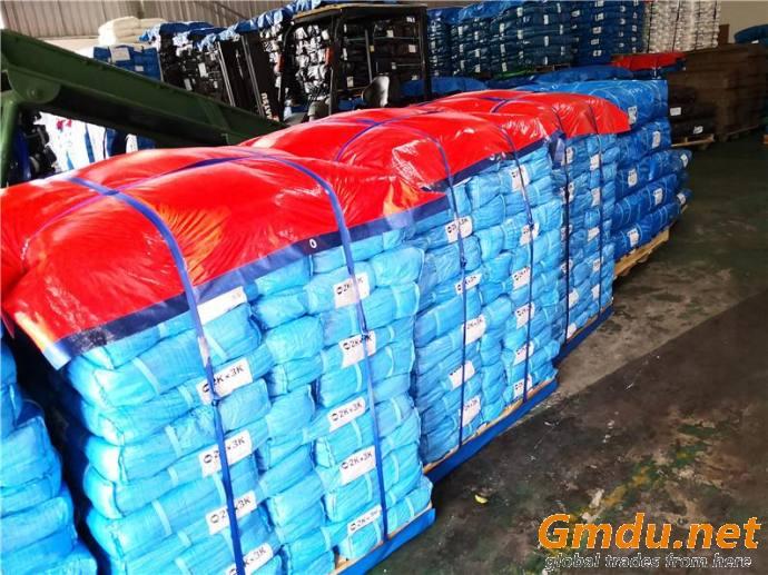 Blue and Orange Outdoor Commodity Covered Waterproof Rain Tarp Truck PE Tarpaulin