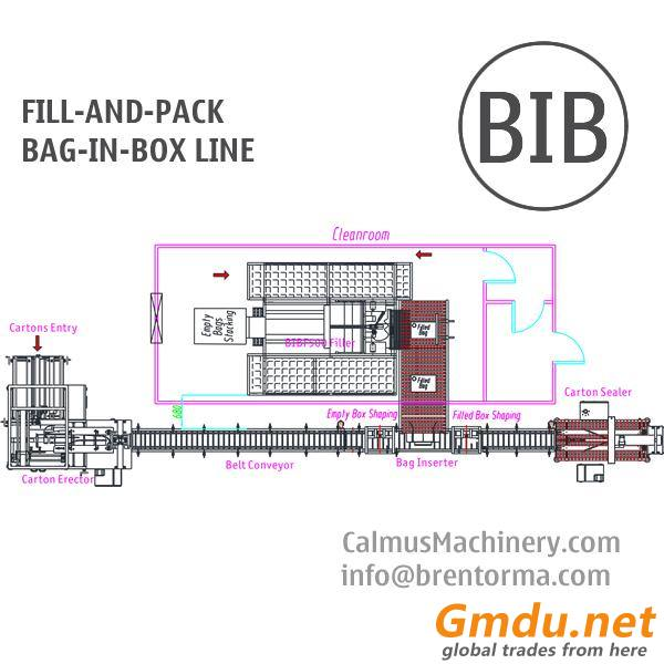 Fill-and-Pack Complete Bag-in-Box Line for 3-5-10-20 Litre BiB Filling and Packaging