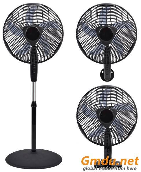 16 inçlik fan 3'ü 1 arada (stand, masa ve duvar) CRSF-16BI (3'ü 1 arada)