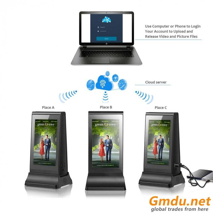 Restaurant Table Stand Power Bank with Advertising Screen menu Charging station