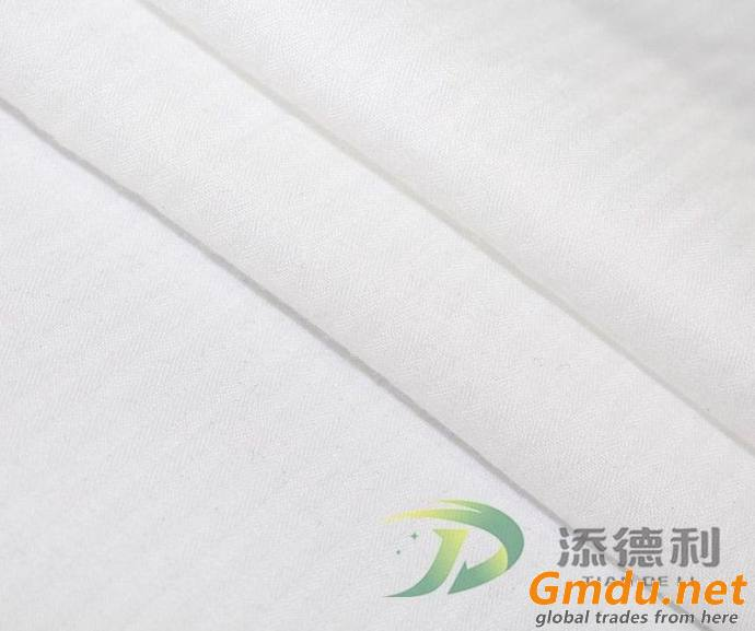 Cotton Herringbone Bleached Fabric