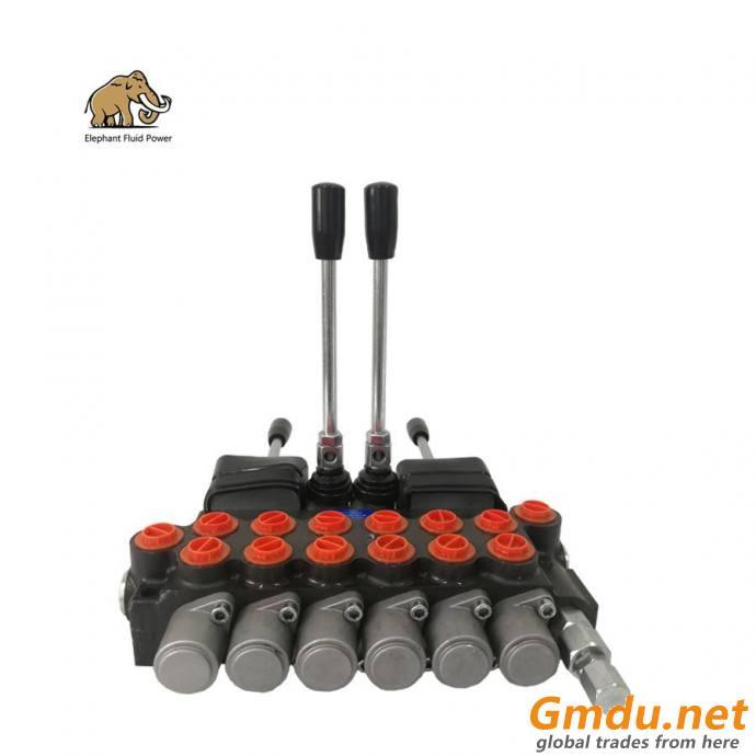 6P40 6-reel Hydraulic Directional Control Valve with Joysticks