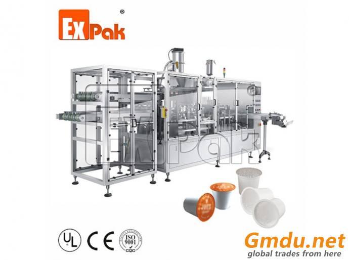Linear Type Kcup Filling Sealing Machine CP5002K/CP5004K