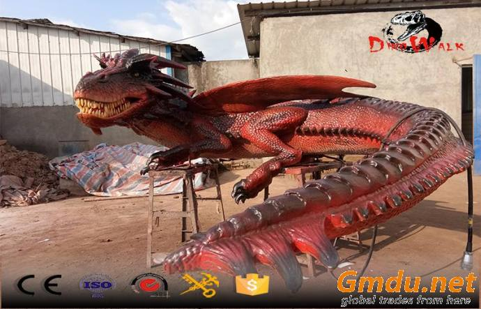 Amusement park animated evil dragon