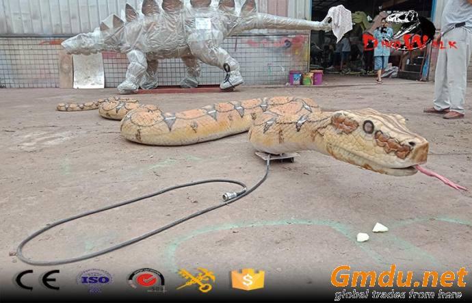 huge real like animatronic snake boa model