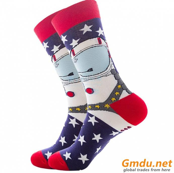Men cotton colorful dressed socks