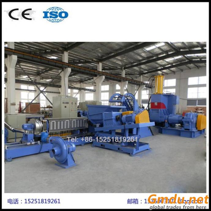 Internal and external shielding cable pellets extruder