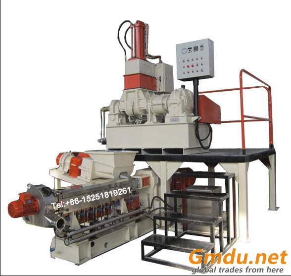 Kneader twin screw extruder for color masterbatch