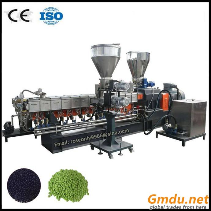 PP PE color masterbatch extruder pelletizing line