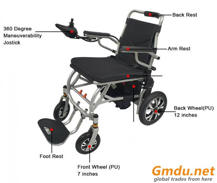 MoRelax D500 Lightweight Power Wheelchair Foldable