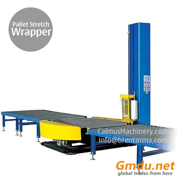 Small-Footprint Online Pallet Wrapping Machine Turntable Stretch Wrapper
