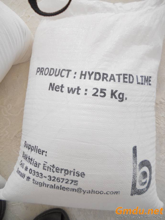Hydrated lime (calcium hydroxide) slaked lime