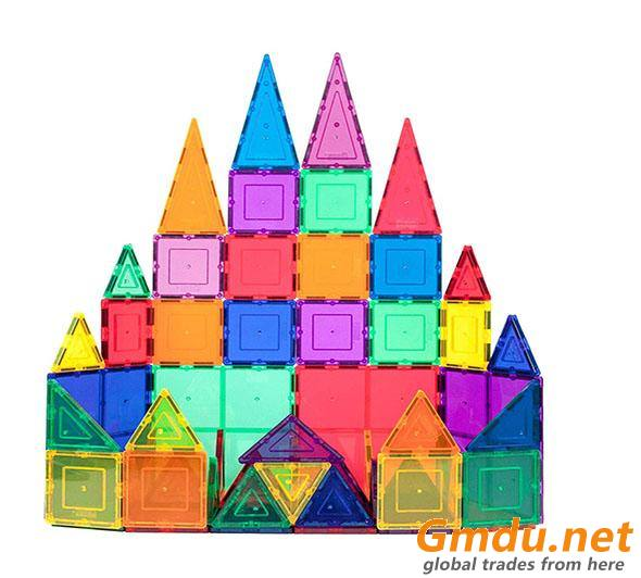 Magnet Toys Kids Magnetic Building Tiles 3D Magnetic Blocks Preschool Building Sets
