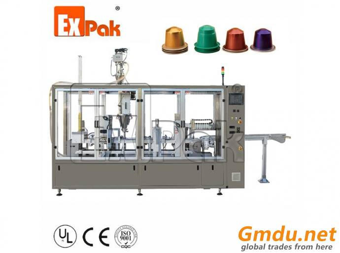 Two Lane Type Nespresso Capsule Filling Sealing Machine CP5002N