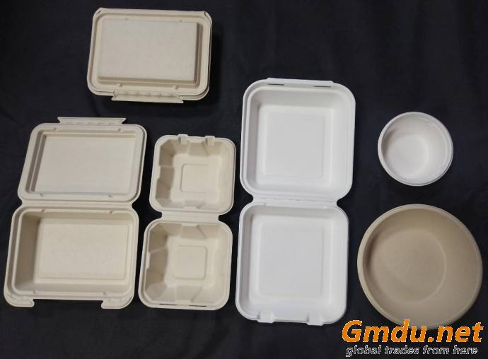Degradable and disposable pulp tablewares