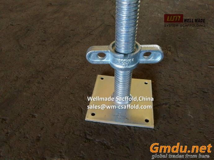 Scaffolding Adjustable Base Jack Steel Screw Scaffold Jack Construction Component