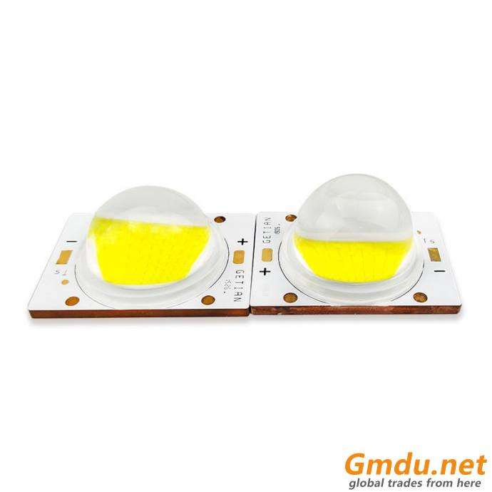 Flip Chip Ceramic Base COB 60W COB LED With 90° Lens
