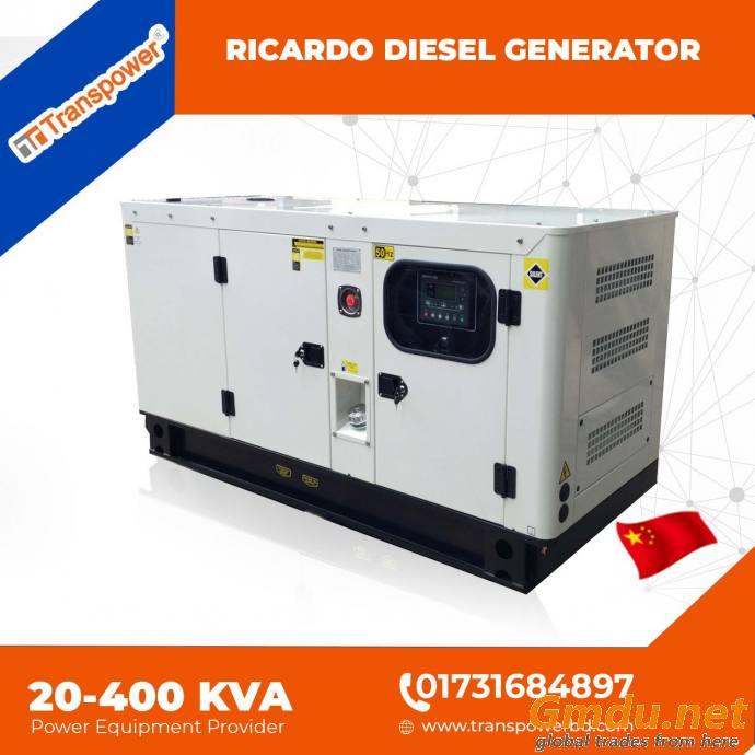 100 KVA Ricardo Engine Diesel Generator