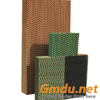 Evaporative cooling pads for evaporative cooling system in greenhouses