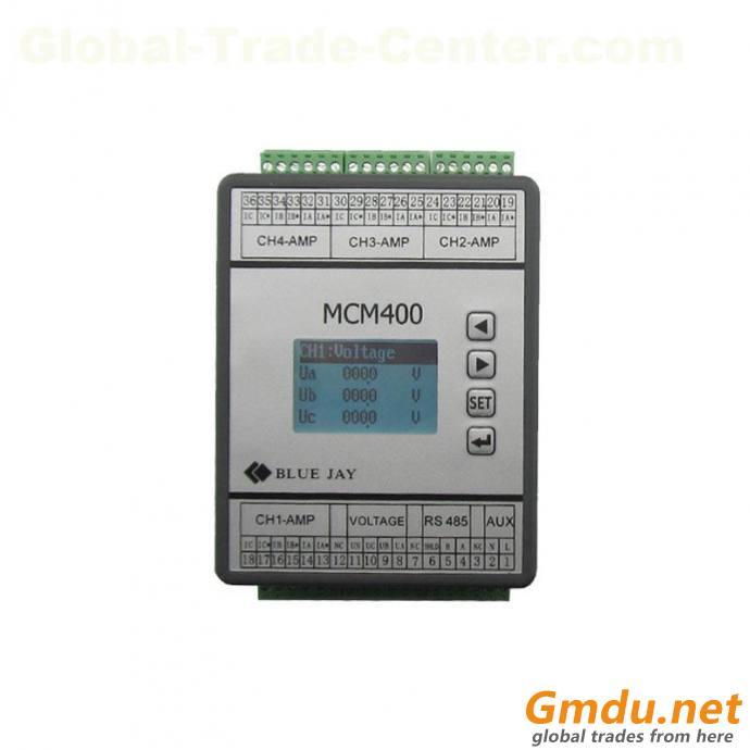 DCEM LCD display 4 channels dc energy meter, battery bank UPS multi-circuit dc power meter rs485