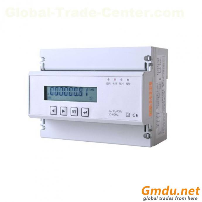 19D-X3 3-Phase active and reactive energy meter,DIN-rail mounting