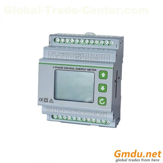 19D-301 three-phase DIN-rail energy meter,collection and control