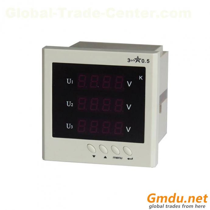 BJ-192U-9D4 3phase digital ac voltmeter with RS485