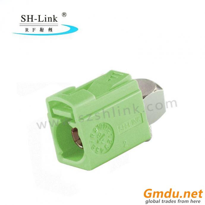 Fakra N Female Right Angle Crimp Solder Connector