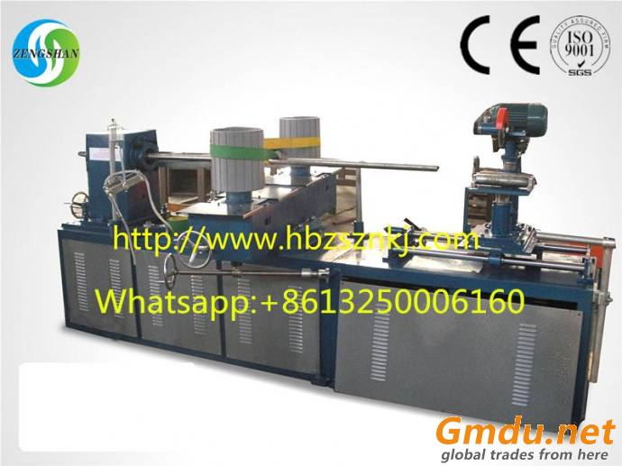 Cutting spiral tube machine