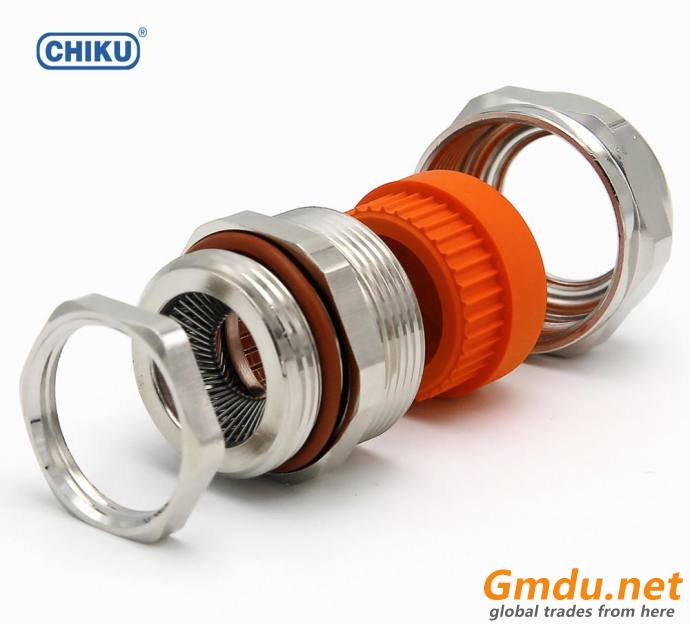EMC cable gland for electric motor, shield cable entry gland