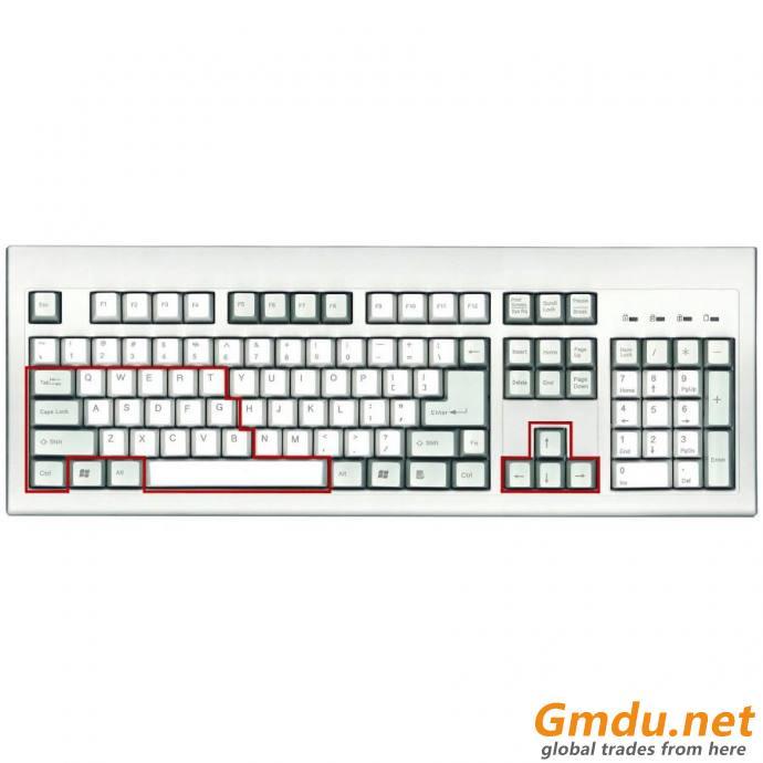 Classic Full Size USB Keyboard w/ 24 anti-ghost Key
