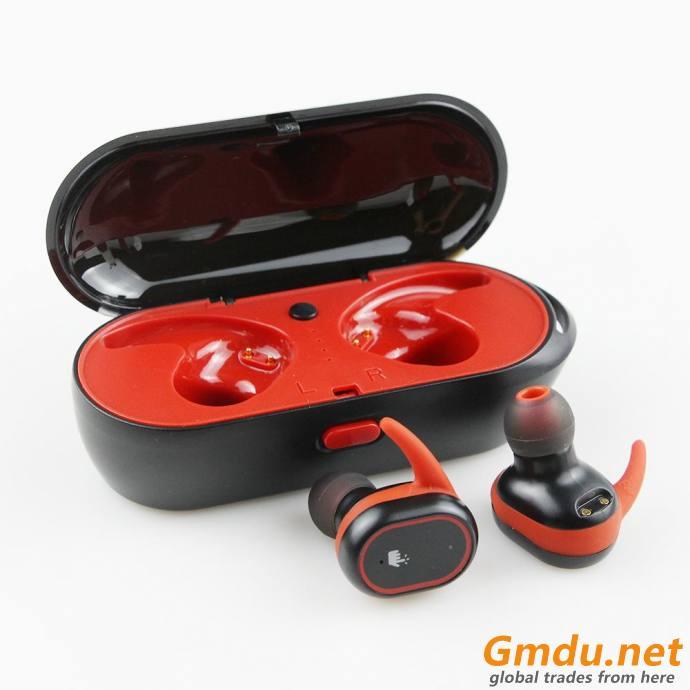 Wireless earphone plus TWS true Wireless headphone for mobile smart phone with charging case