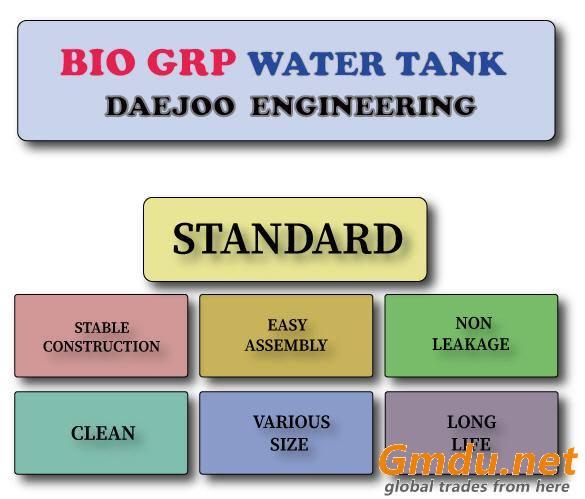 Bio GRP water tank for European Union