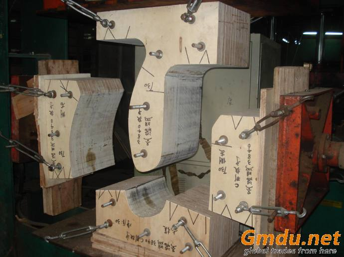 Woodworking machinery HF high frequency hot press wood curved machine