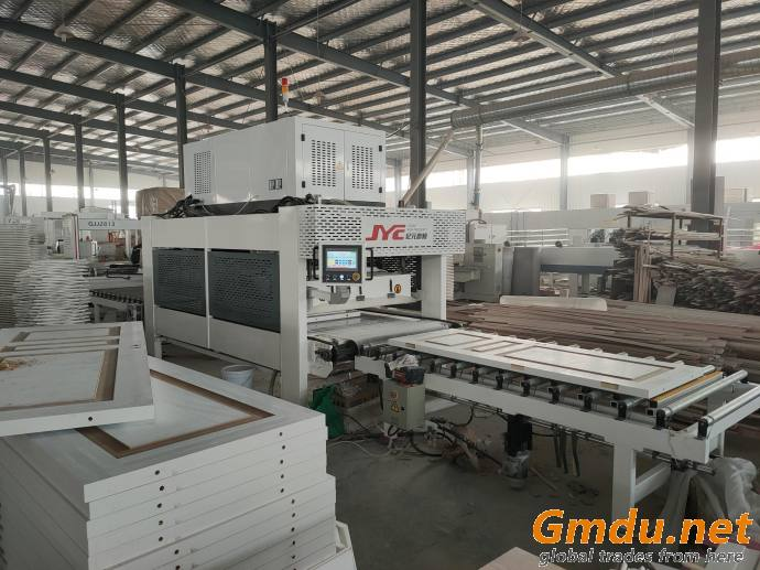 high frequency HF/RF wood machinery door edge banding/conveyor edge glue press