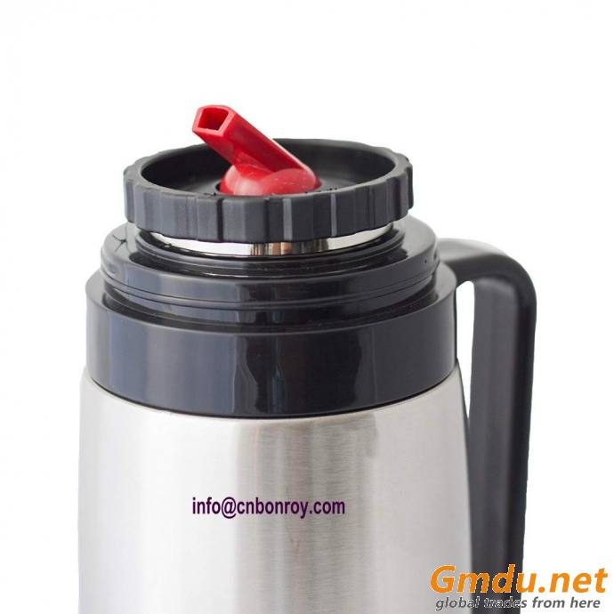 Stainless Steel Bullet Yerba Mate Flask with Iconic Red Spout