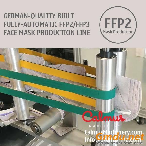 German-QLTY Built FFP2 FFP3 Respirator Mask Making Machine Production Line