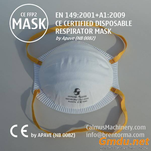 Valid-CE-Mark Approved Valveless FFP2 Cup Respirator Face Mask