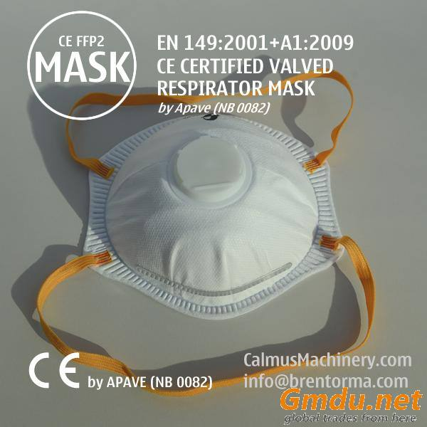 CE Certified FFP2 Valved Cup Respirator Face Mask