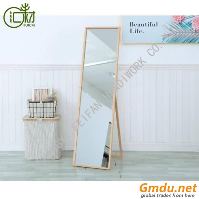 Standing floor full length mirror frame dressing mirror for home interior deco