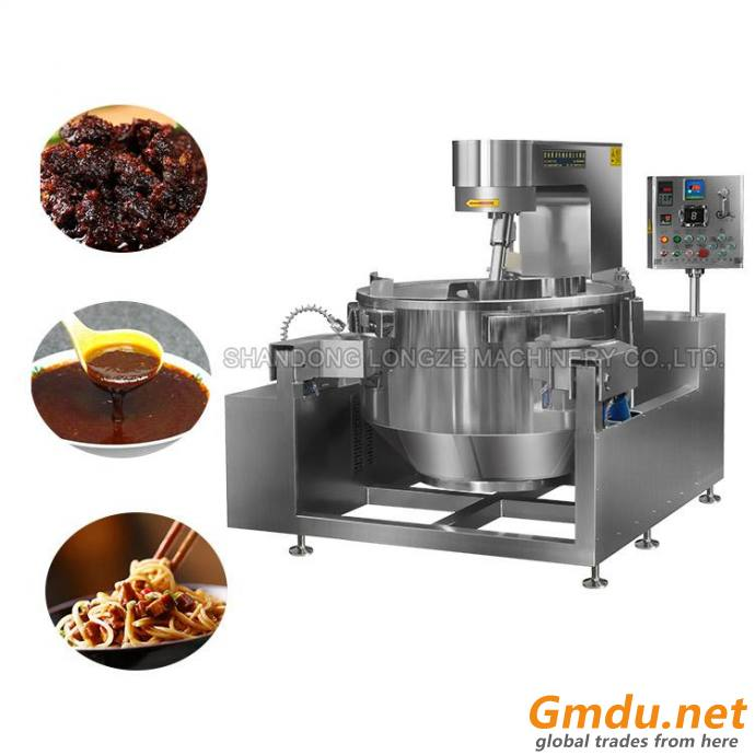Gas Heating Automatic Cooking Mixer Machiner For Meat Sauce