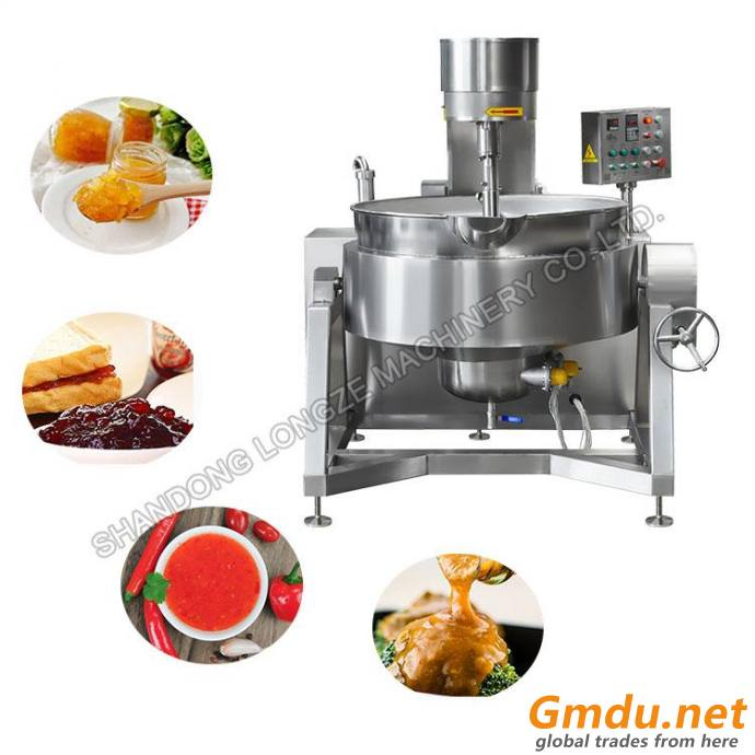Semi-auto Gas Heat Tilting Cooking Mixer for sale